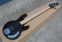 Factory Custom Shop Black Music Man Ernie Ball Sting Ray 4 String Bass Guitar 141111