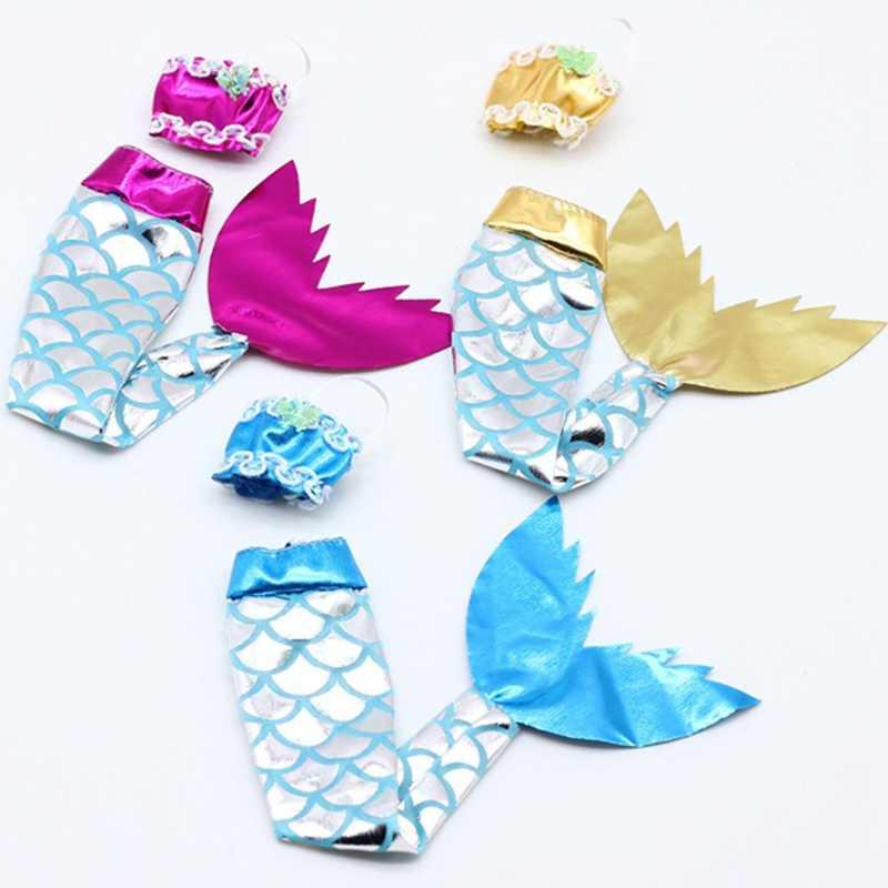 Conjunto de accesorios de traje de baño de cola de sirena para ropa de fiesta de muñecas de 11 pulgadas de juguete para niñas