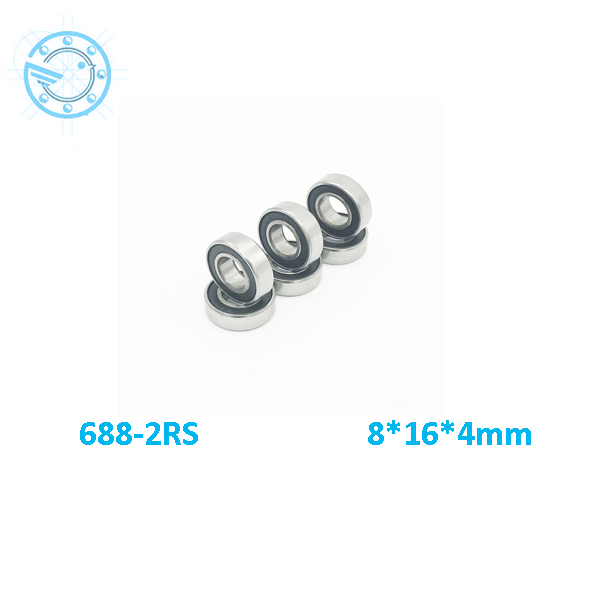 free  shipping  50 pcs/lot 8*16* 5mm Metal Shielded Deep Groove Ball Bearing 688ZZ 688 bearing