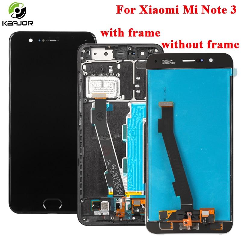 Pour Xiao mi Note 3 écran LCD + écran tactile + empreinte digitale bouton en verre panneau numériseur accessoires affichage pour Xiao mi mi Note 3