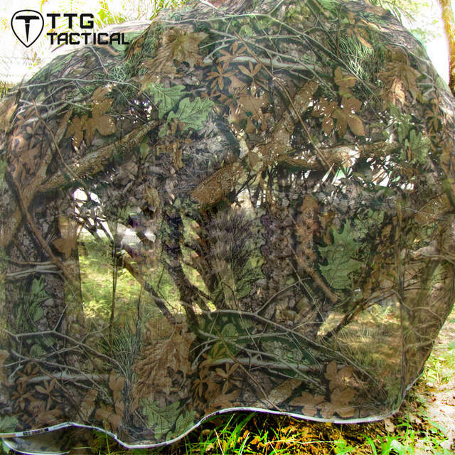 TTGTACTICAL 4x1 5M UltraLight Camouflage Netting Realtree Camo Hunting  Blind Quick Set Camo Unlimited Camo Systems Blind