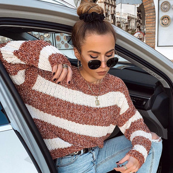 aelorxin 2017 women sweaters and pullovers thick autumn winter casual full sleeve o neck fashion women sweater girls sweaters Women Sweater Winter 2019 Striped Crocheted Knitted Autumn Female Pullovers 2019 Fashion Women's Sweaters Long Sleeve O-neck