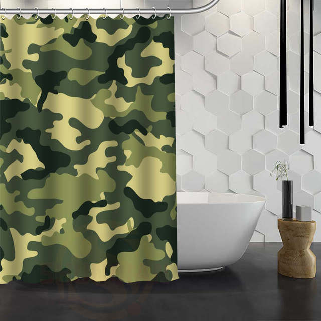 Hot Sale Custom Camo Background Shower Curtain Waterproof Fabric ...