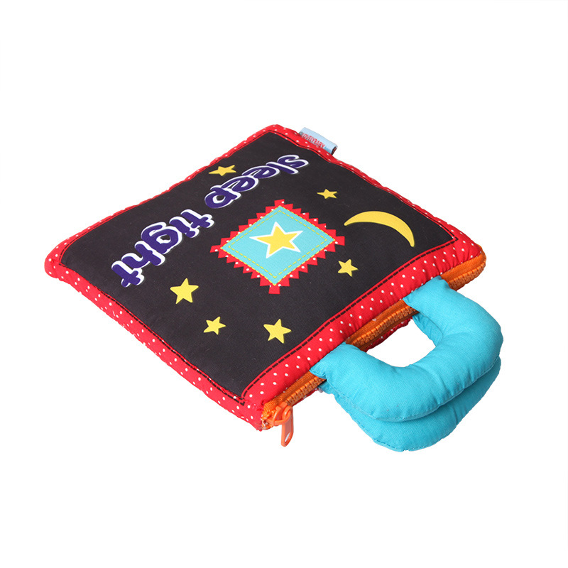 Baby cartoon cloth book bear stereo scene cloth book tear not bad early education bedtime parent-child interaction story book