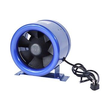 8 Extractor   1 Unidad 8 Cun Silencioso. Controlador De Velocidad Del Ventilador Del Conducto-ventilador De Escape De Seis Pulgadas Potente Ventilador De Escape 50 W 110 V/220 V
