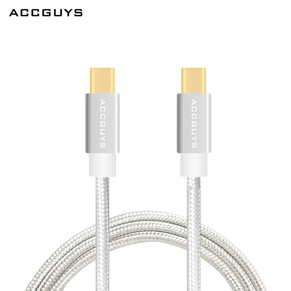 ACCGUYS USB Type C Cable,Fast Charging Data USB C To Type C Cable 3.3ft/1M for Samsung S8 Mobile Phone Cables for ChromeBook