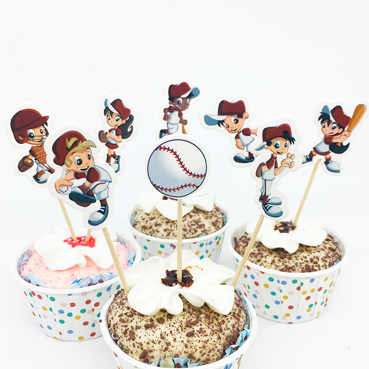 online get cheap baseball cupcake decorations -aliexpress