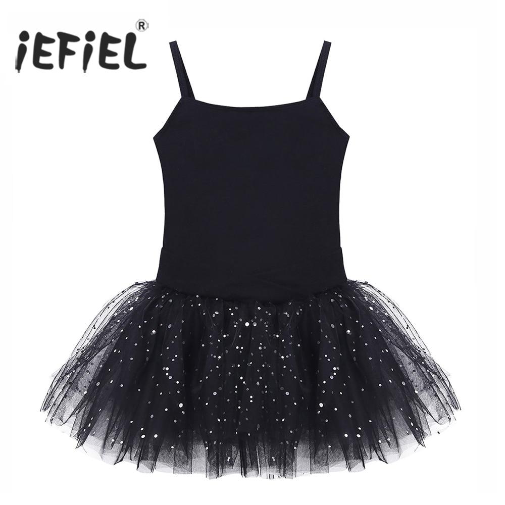 0f44d3815 Kids Professional Ballet Tutu Dress Sleeveless Bowknot Glitter Tulle ...