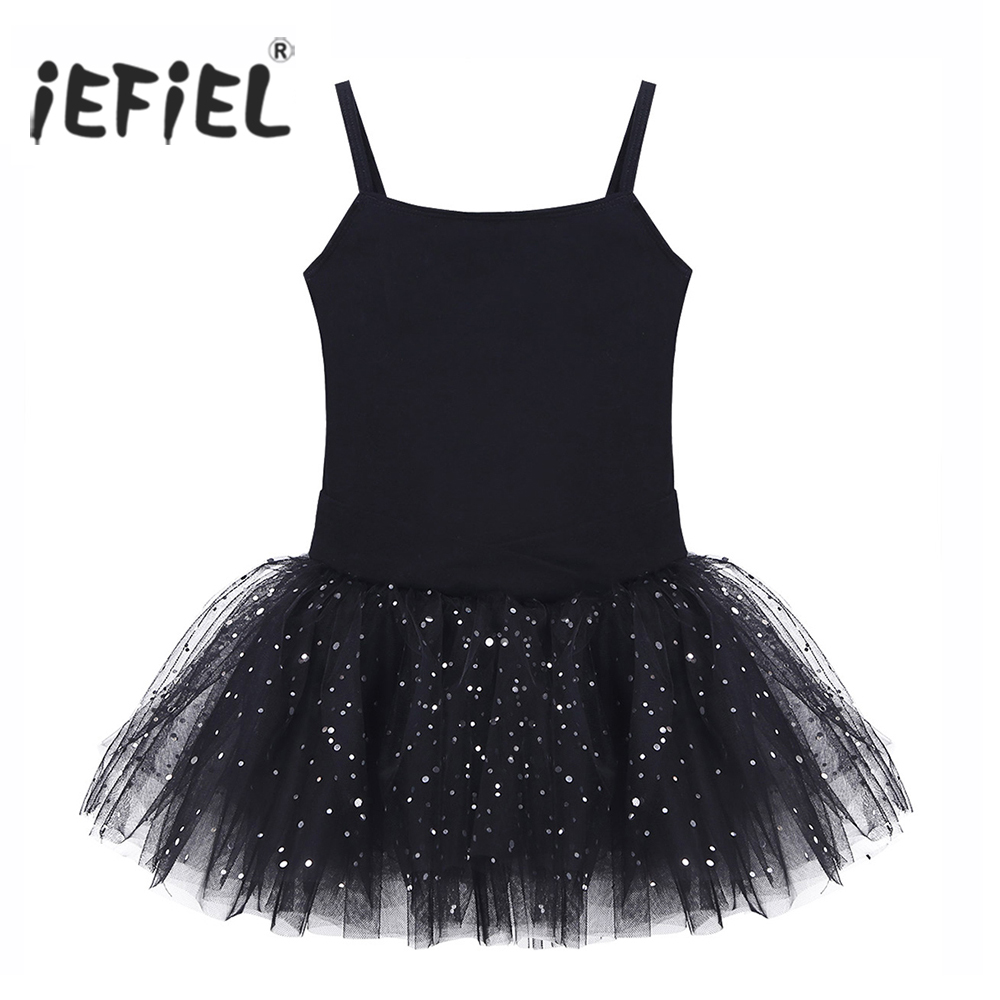 Kids Professional Ballet Tutu Dress Sleeveless Bowkont Glitter Tulle Ballet Dance Class Ballerina Gymnastics Leotard Girls Dress