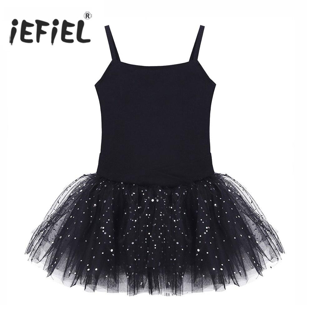 Kids Professional Ballet Tutu Dress Sleeveless Bowkont Glitter Tulle Ballet Dance Class Ballerina Gymnastics Leotard Girls Dress