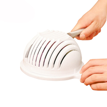 Brand 1Set Plastic Salad Cutting Bowl For Vegetables Fruit 60 Seconds For Convence Cooking Kitchen Decorating Tools
