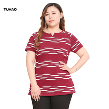 TUHAO 2019 Summer Blouse Casual Short Sleeve Womens Tops and Blouses Office Women Blouse Shirt Blusas 10XL 8XL 6XL MSFS