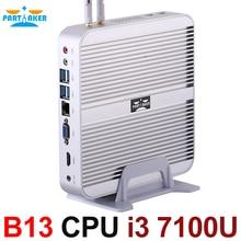 Intel Core i3 7100U 7th Gen Kaby Lake Win10 Fanless Mini PC 4K HTPC Fanless Nuc Intel HD Graphics 620