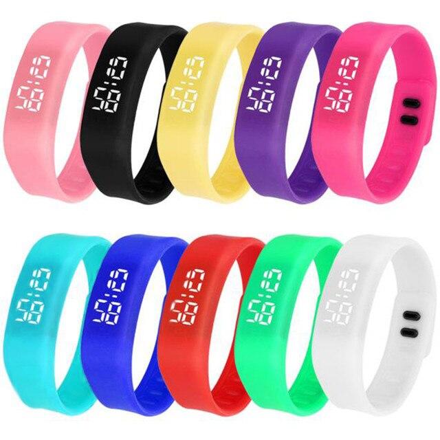 Men Women LED Watch Sports Running Watch Date Rubber Bracelet Casual Waterproof