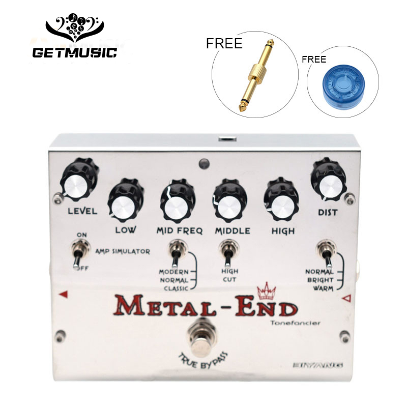 Biyang Tonefancier Metal End King Distortion Electric Guitar Effect Pedal True Bypass Design with Gold Pedal