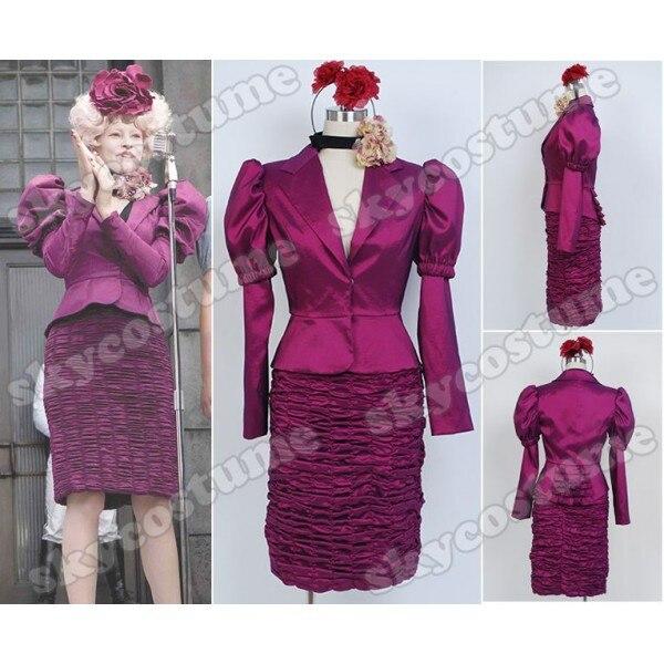 Голодные игры Эффи брелок Фиолетовый равномерное платье Косплэй костюм