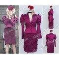 Los juegos del hambre Effie Trinket púrpura uniforme vestido Cosplay
