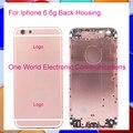 """Preto Branco Ouro Rosa 4.7 """"para iphone 6 6g chassis médio quadro liga de metal habitação tampa traseira da bateria caso porta do código de rastreamento"""