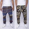 2016 Otoño Invierno de Los Hombres de Algodón De Lino Con Cordón Gecko Impresión Floral Pies Estrechos Pantalones Basculador pantalones de Hip Hop Los Hombres de La Vendimia 21