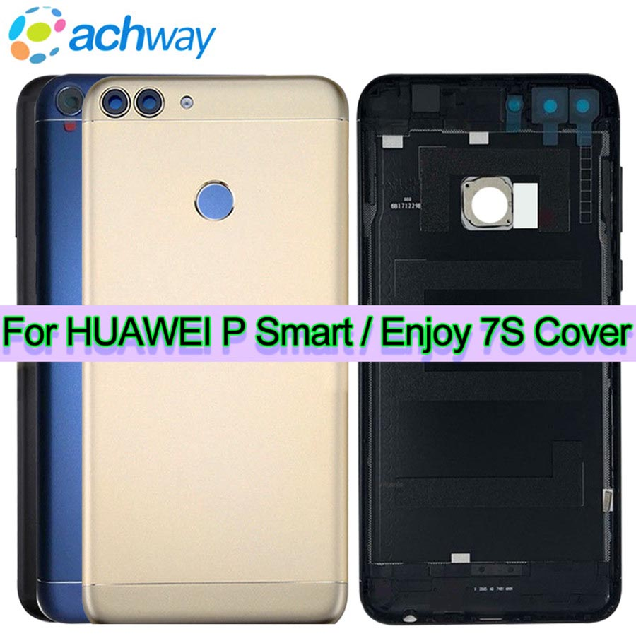 new product 12140 48df7 US $6.99 50% OFF|NEW Original Huawei P Smart Battery Cover Rear Door  Housing Back Case Replacement FIG LX1 Phone Huawei Enjoy 7S Battery  Cover-in ...