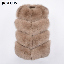 BIG SALE FREE SHIPPING Hot New Natural Fox Fur Vest Real Gilet Winter High Quality Women Genuine S7426