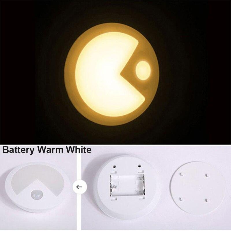 Батарея четыре листа клевера Night light Лампы движения Сенсор ночник ПИР Интеллектуальный светодиодный человеческого тела движения светильни...