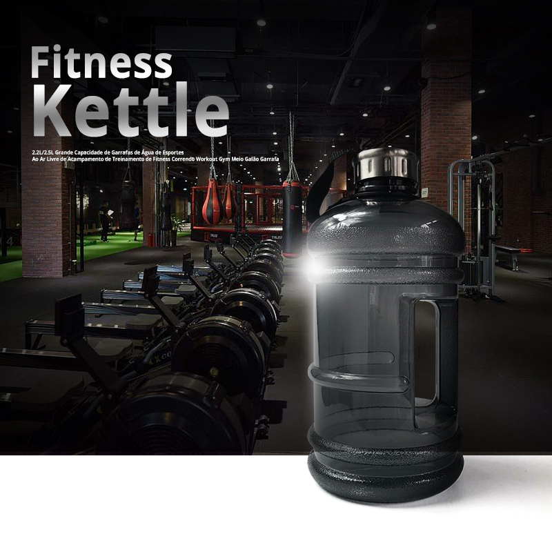 Water-Bottles Fitness-Training Sports Gym Half-Gallon Outdoor Running Camping Large-Capacity title=