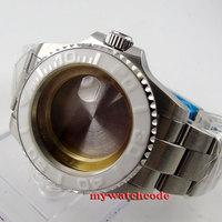 43mm sapphire glass white caremci bezel Watch Case fit 2824 2836 MOVEMENT C81