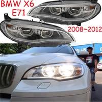 Bumper lamp for E71 X6 Headlight car Accessories 2008~2015year x6 Head Lamp Auto LED DRL hi/lo Beam lens,x6 daytime light
