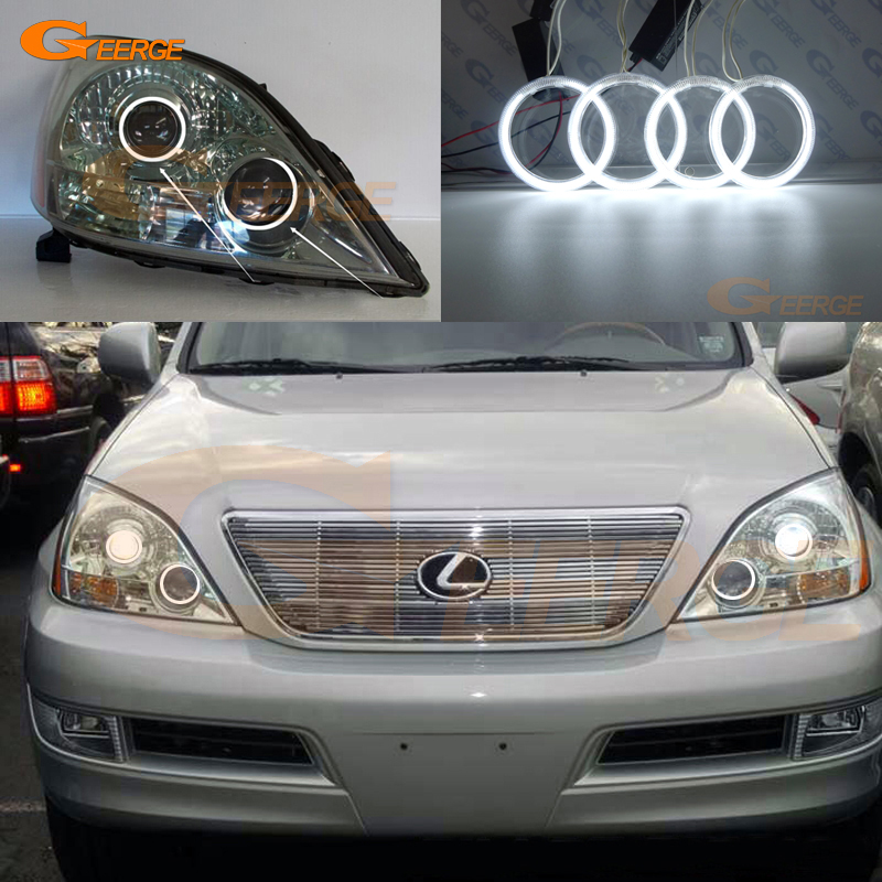 For Lexus GX470 J120 2003 2004 2005 2006 2007 2008 2009 Excellent Angel Eyes Ultra bright illumination ccfl angel eyes kit for chrysler pacifica 2007 2008 halogen headlight excellent angel eyes ultra bright illumination ccfl angel eyes kit
