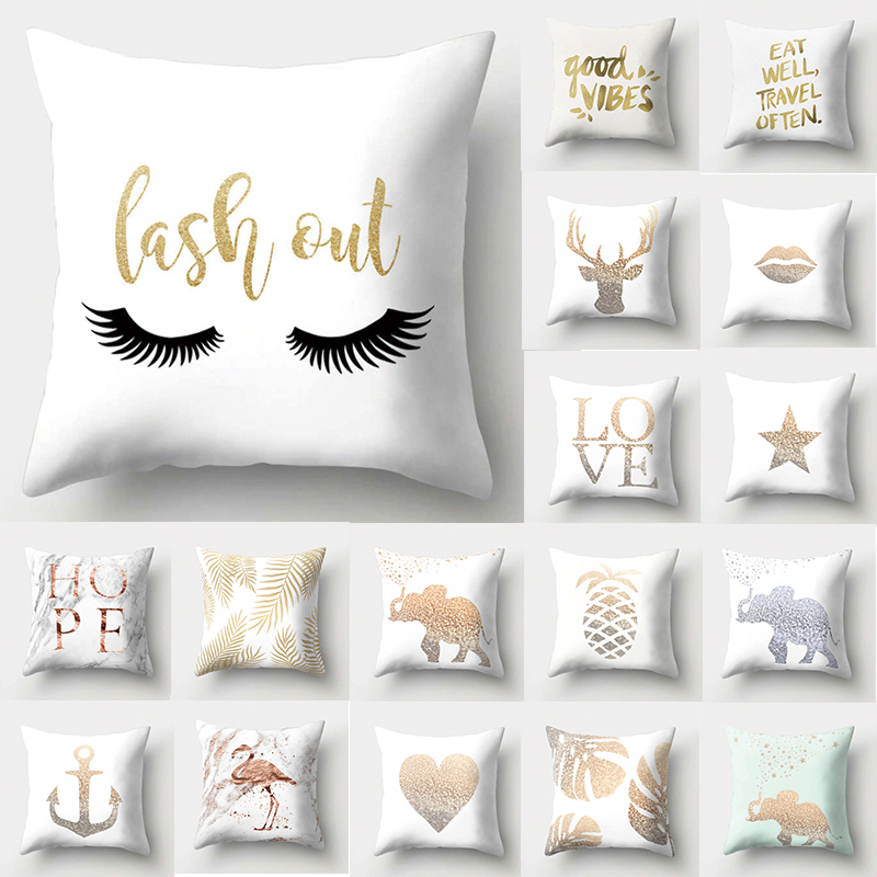 1Pcs Flamingo Love Heart Pattern Polyester Throw Pillow Cushion Cover Car Home Decor Decoration Sofa Decorative Pillowcase 40512