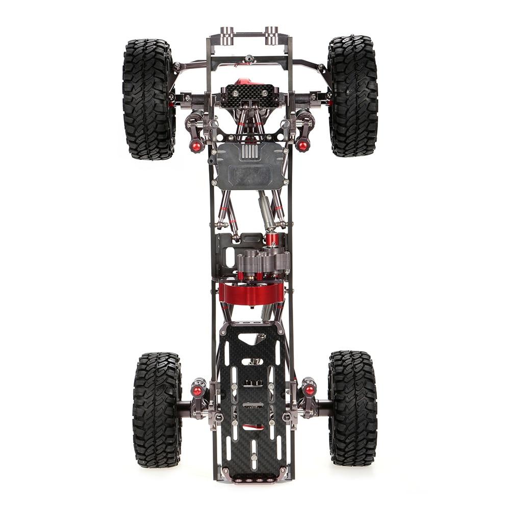 RC Car 1/10 Racing CNC Metal Aluminum & Carbon Frame AXIAL SCX10 ...