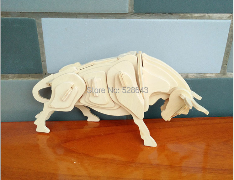 US $127 0 |Chinese Zodiac Ox Anitique Wood Toys Plywood 3D DIY Wood  Puzzle-in Puzzles from Toys & Hobbies on Aliexpress com | Alibaba Group