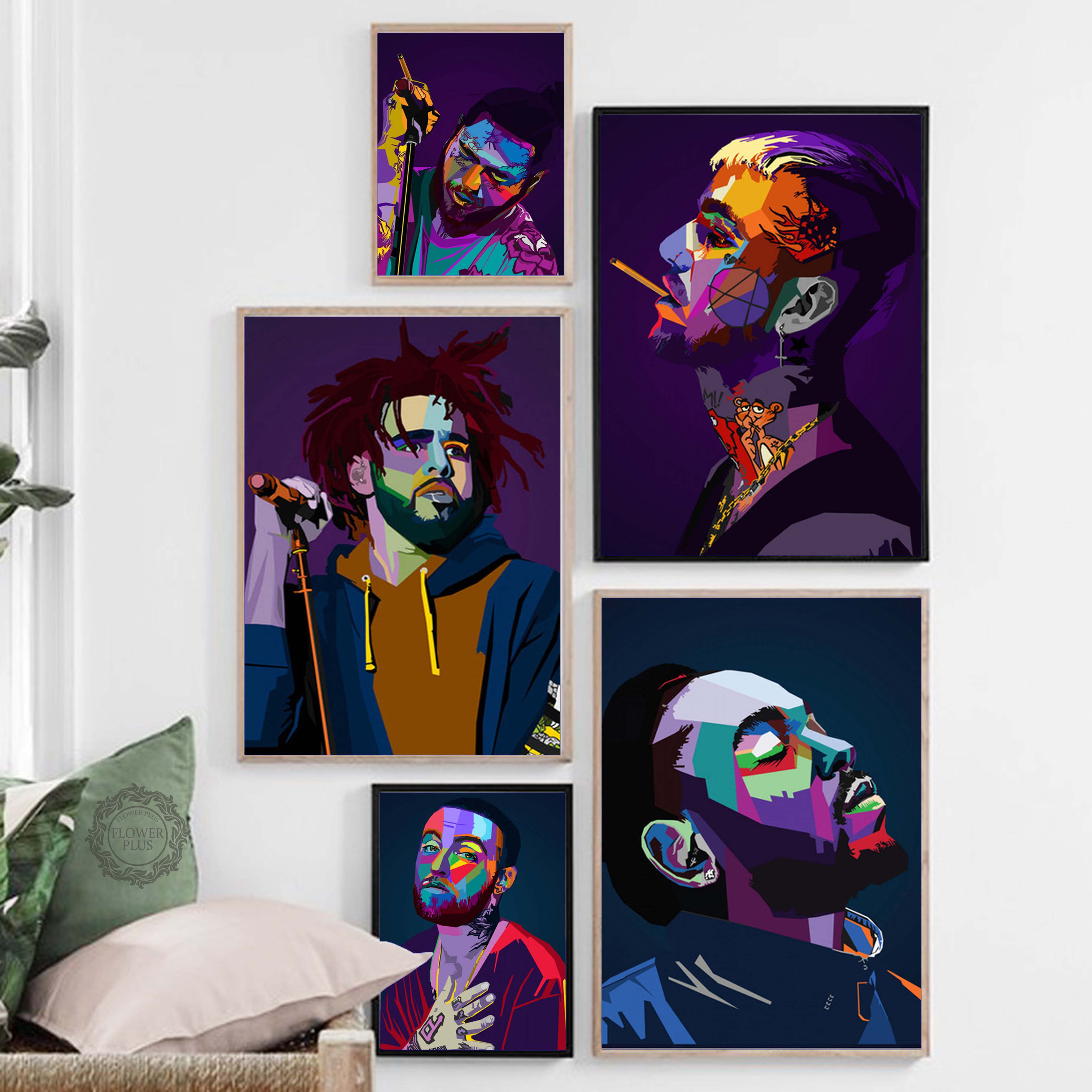 Lil Peep Tyler XXXTentacion Rapper Star Wall Art Canvas Painting Nordic Posters And Prints Wall Pictures For Living Room Decor