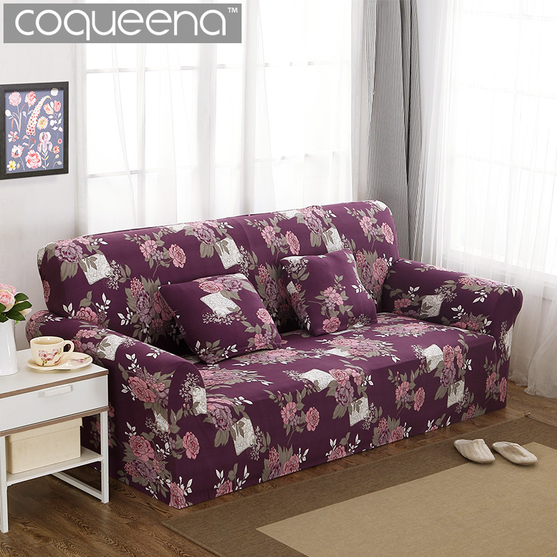 Flower Pattern Universal Sofa Cover Slipcover Cheap Stretch Furniture Couch Angular