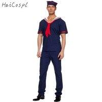 Plus Size Navy Costume Men Sailor Costume Worker Uniform Hot Sale Halloween Costumes For Men Carnival