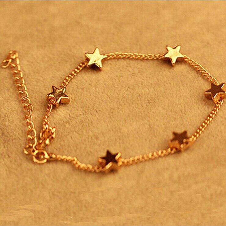 BONLAVIE 1 Piece Women Fashion Ocean Style Multi Star/Heart Link ...