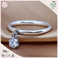 Very Popular And Fashion European Famous Brand  925 Real Silver Stone Pendant  Ring