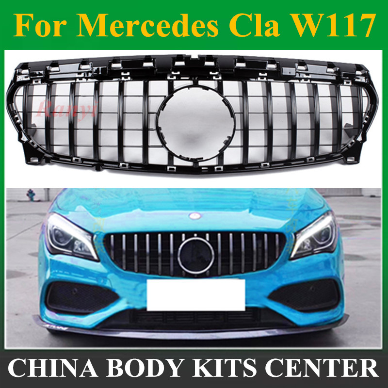 CIA W117 GT R estilo Grille para Mercedes Grade Dianteira para Mercedes Benz CLA Classe W117 C117 CLA200 220 CLA260 300 AMG 2013-2018