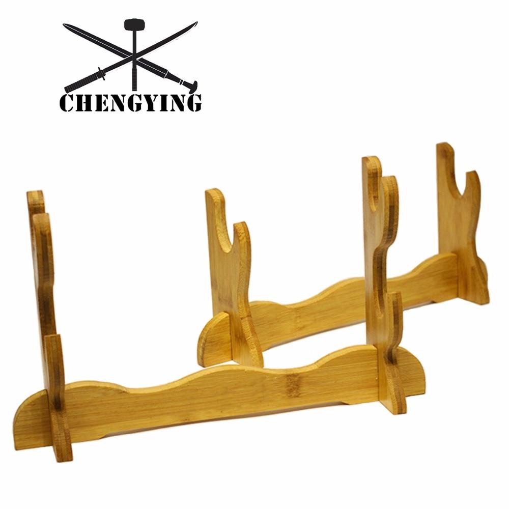 Original color of bamboo material Wall Mount Samurai Sword Katana Holder Stand Hanger Bracket Rack Display