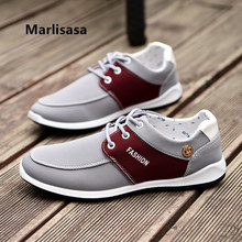 Marlisasa Men Casual High Quality Spring Lace Up Shoes Male Cool Comfortable Street Shoes Man Blue Shoes Zapatos Hombre F2699