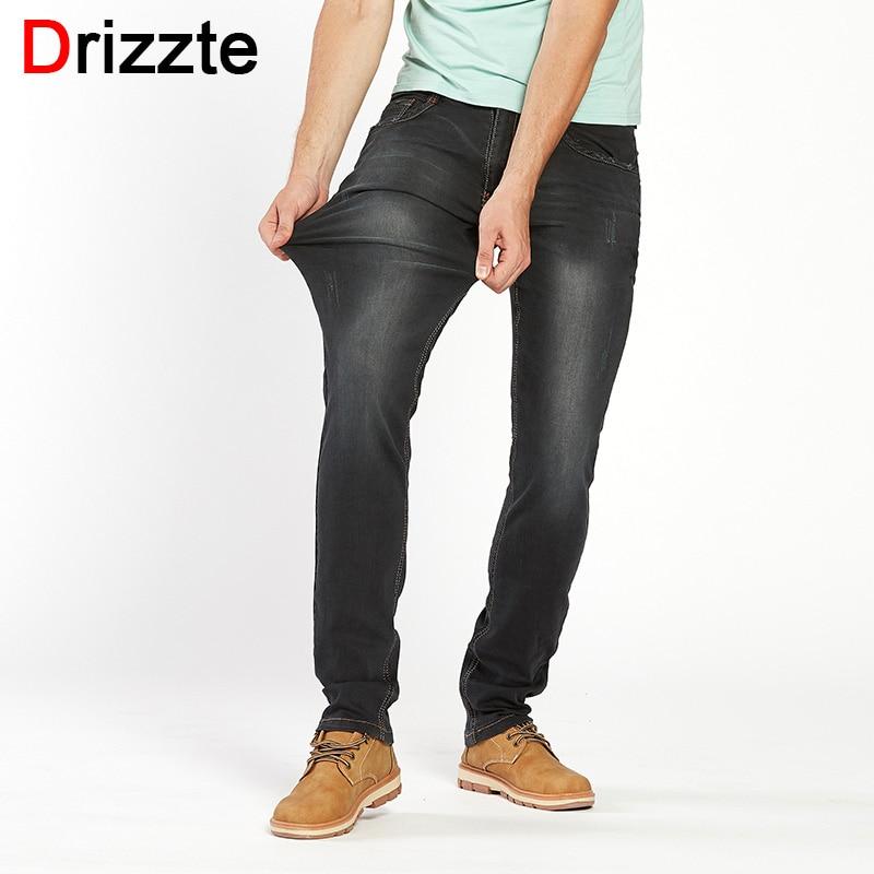 Drizzte Brand Jeans Men Jeans Large Plus Size Designer Cotton Ripped Stretchy Pants Trousers Blue Denim Brand Men's Jeans