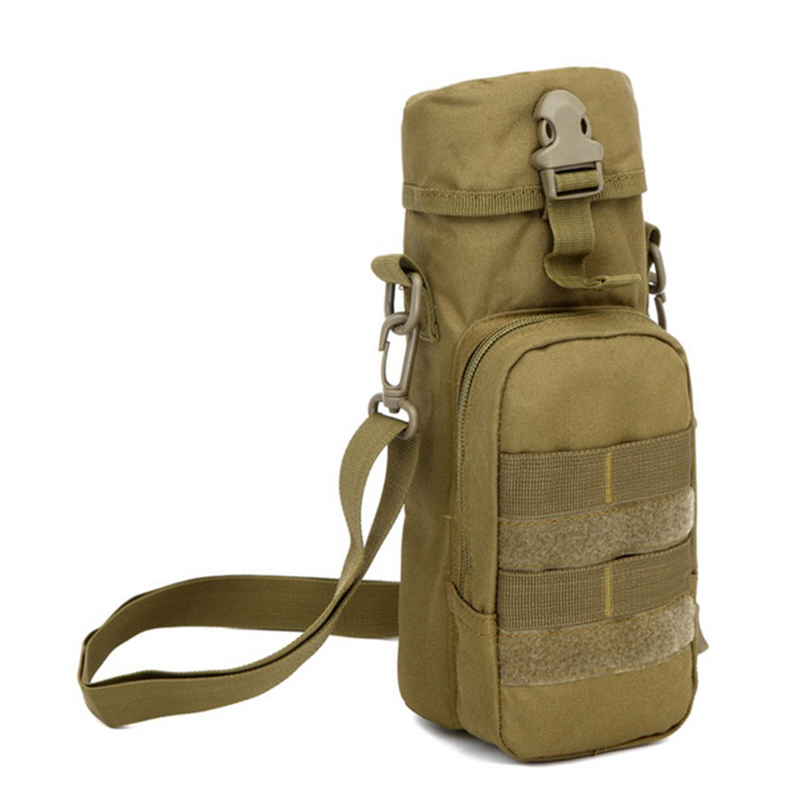 Army Fans Hot Molle Outdoor Sport font b Tactical b font Gear Water Bottle Pouch Kettle