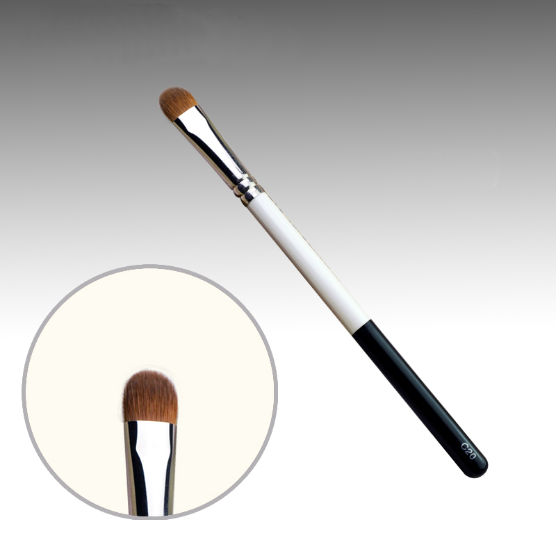 C20 Professional Makeup Brushes Weasel Hair Eye Shadow Brush White Black Handle Cosmetic Tools Make Up Brush 7e08 professional makeup brushes weasel hair eye shadow blending brush black handle cosmetic tools smoky eye make up brush