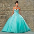 Hot Pink Blue Quinceanera Dresses Ball Gown Tulle Sweetheart Crystals Pleated Prom Party Corset Sweet 16 Dress Vestidos De