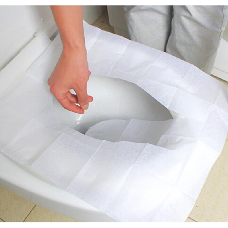 10 Pieces/set Travel disposable toilet seat cover wc mat 100% waterproof toilet paper pad bathroom accessories toilet seat