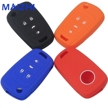 maizhi 4 Buttons Silicone Remote Car Key Case Cover For Chevrolet Cruze Trax Lova Malibu For Buick For Opel Mokka Car-styling