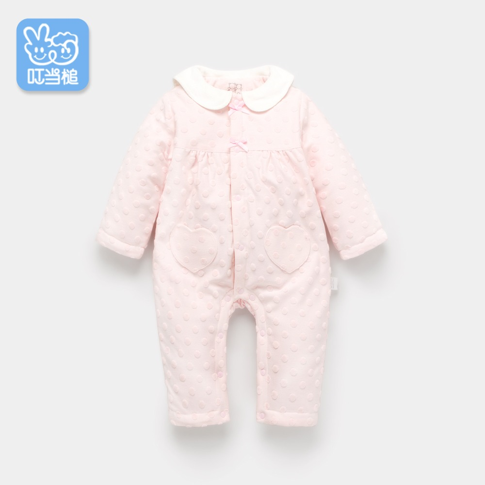 Dinstry baby spring newborn clothes cartoon cute dot rabbit long-sleeved romper dinstry 2018 spring and autumn newborn baby cotton long sleeve romper lion pattern