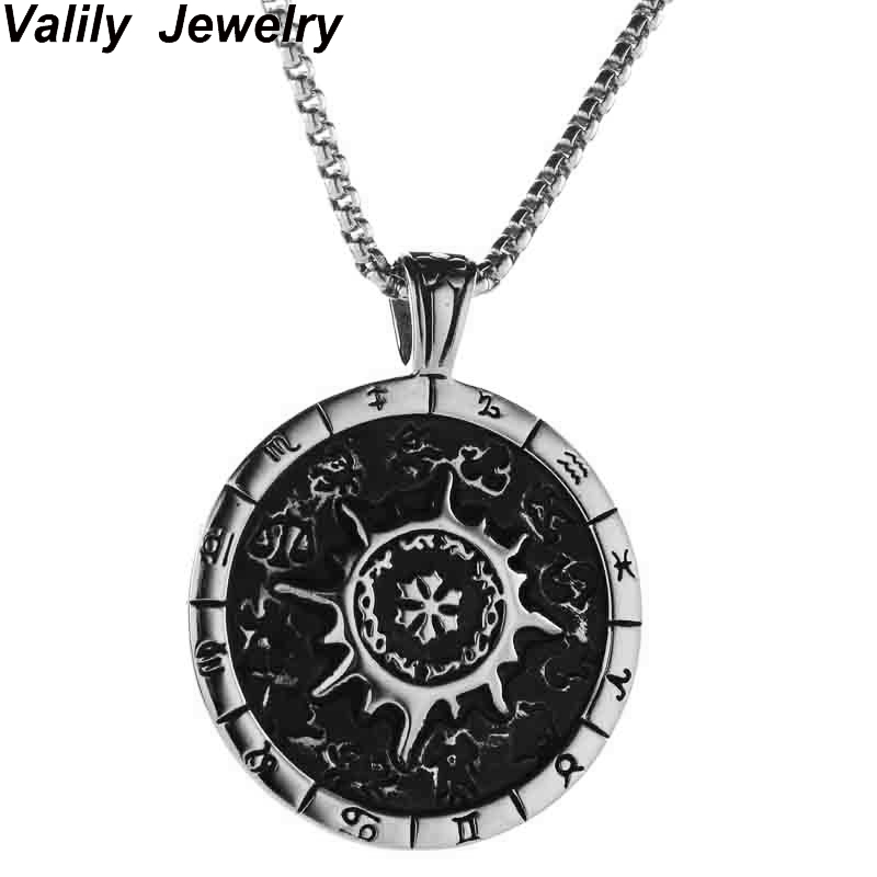 Valily Jewlry Valknut Odin s Symbol of Norse Viking Warrior Amulet Mens Silver Pewter Pendant with Black Necklace