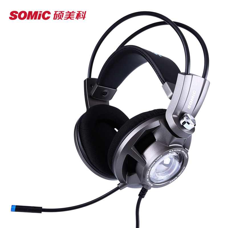 Somic G955 7.1 Channel Stereo Headband Electric Competition Gaming Headset for game Over-ear Headband Headset Computer cat ear sequin headband